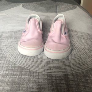 Baby pink toddler shoes